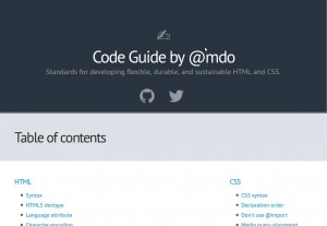 Code Guide by @mdo