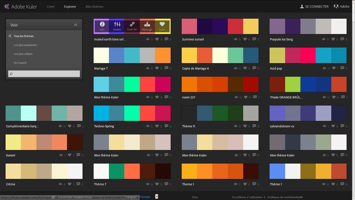Adobe Kuler Cr Ation De Th Mes Color S Guillaume Richard