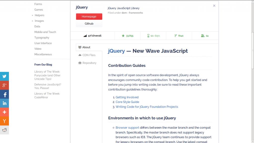 Exemple de bibliothèque - Javascripting