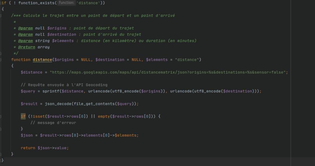 Exemple de code PHP